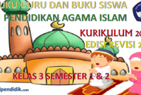 Download buku PAI Kelas 3 Kurikulum 2013 Revisi 2018