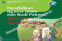 Download RPP PAI SD kelas 6 Semester 1 kurikulum 2013 revisi 2018