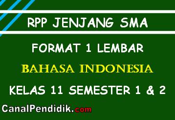 RPP Bahasa Indonesia 1 Lembar Kelas XI