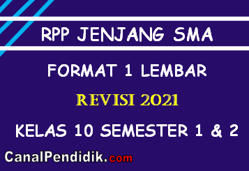 Silabus dan RPP PKN Kelas 10 Format Satu Lembar Revisi 2021