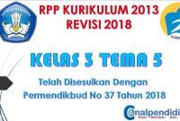 RPP Kelas 3 Semester 2 Tema 5