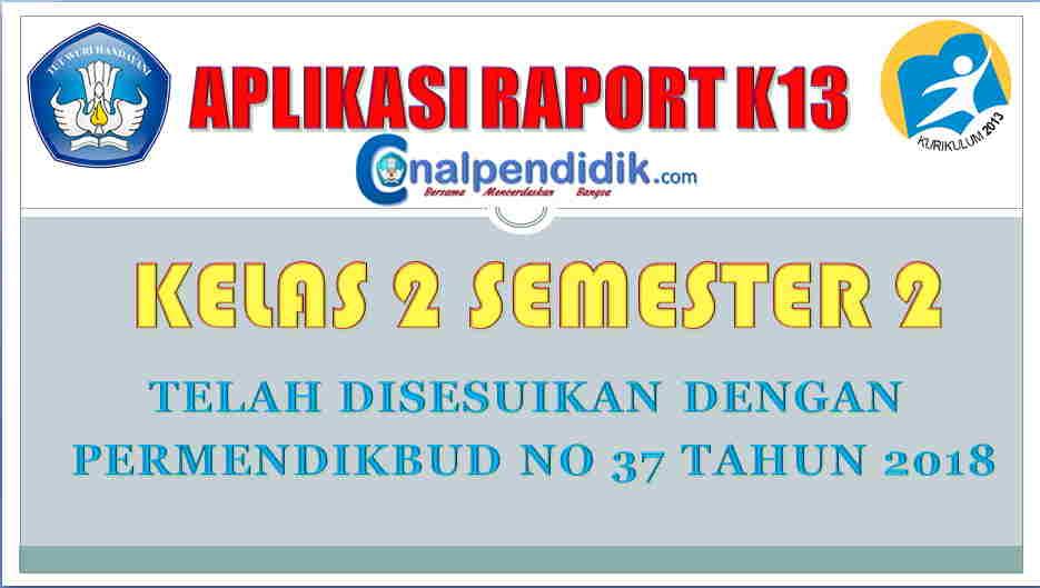 Raport SD/MI Kelas 2 Semester 2