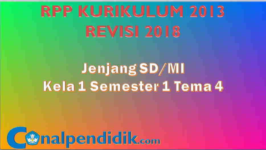RPP K13 Kelas 1 Tema 4