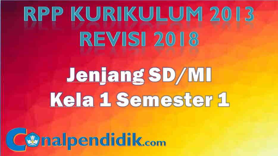Contoh RPP K13 Kelas 1 Semester 1