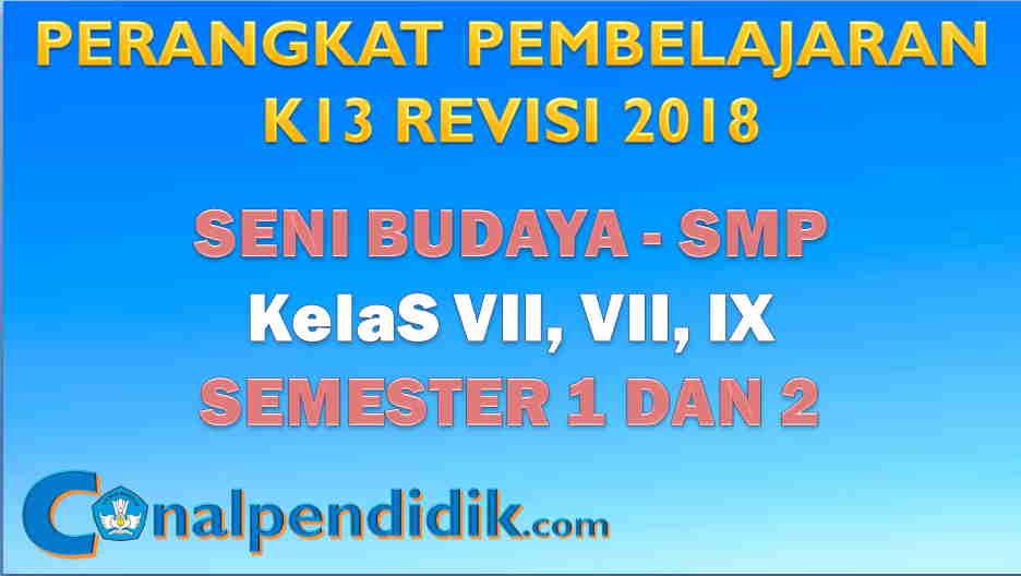 RPP Seni Budaya K13 SMP