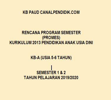 Program Semester Promes K13 PAUD TK B Umur 5-6 Tahun