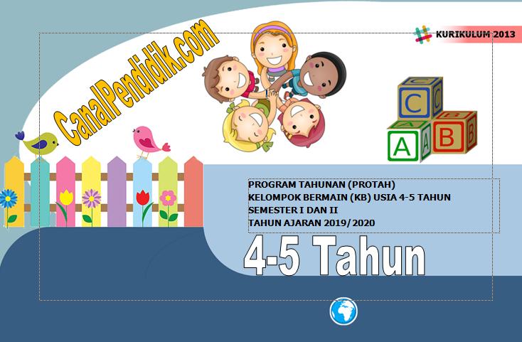 Download Prota PAUD TK A Umur 4-5 Tahun