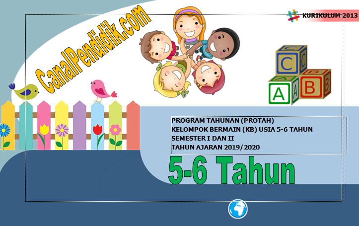 Download Prota PAUD TK B Umur 5-6 Tahun