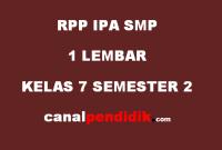 RPP SMP 1 Lembar Kelas 7 IPA Revisi 2020