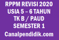RPPM TK A / PAUD Umur 5-6 Tahun Semester 1