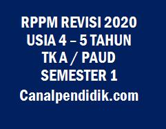 RPPM TK A / PAUD Umur 4-5 Tahun Semester 1