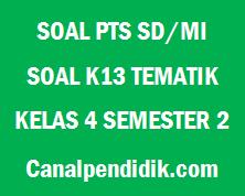 Soal Tengah Semester / PTS Kelas 4 Semester 2