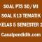 Soal Tengah Semester / PTS Kelas 5 Semester 2