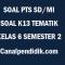 Soal Tengah Semester / PTS Kelas 6 Semester 2