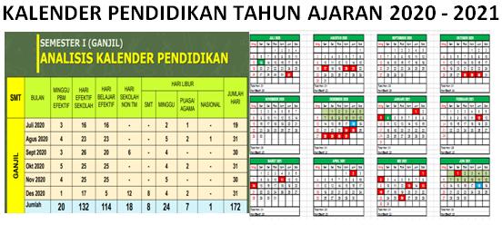 Download Kalender Pendidikan 2020 2021 Pdf Dan Excel Canalpendidik