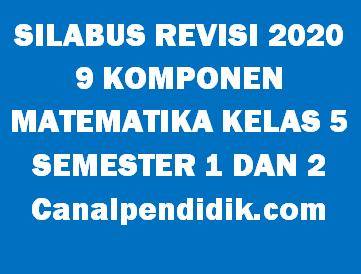Download Silabus Matematika 9 Komponen / 9 Kolom Kelas 5