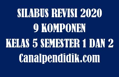 Download Silabus 9 Komponen / 9 Kolom Kelas 5