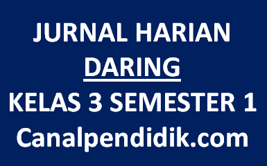 Jurnal Harian Daring Kelas 3 Semester 1