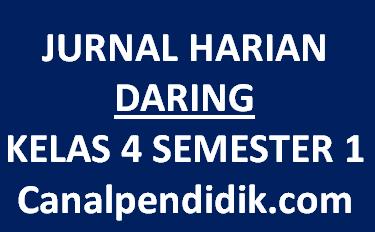 Jurnal Harian Daring Kelas 4 Semester 1