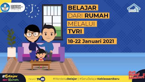 Panduan BDR TVRI Minggu Ke 3 Tanggal 18 – 22 Januari 2021