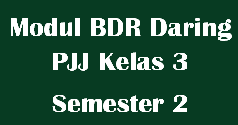 Modul BDR Daring PJJ Kelas 3 Semester 2 Tema 5,6,7 dan 8