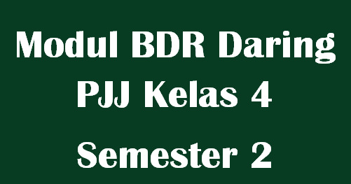 Modul BDR Daring PJJ Kelas 4 Semester 2 Tema 6,7,8 dan 9