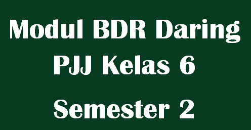 Modul BDR Daring PJJ Kelas 6 Semester 2 Tema 6,7,8 dan 9