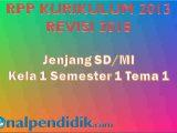 RPP K13 Kelas 1 Tema 1