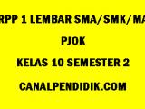 RPP 1 Lembar PJOK SMA/MA/SMK Kelas 10 Semester 2