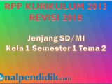 RPP Kelas 1 K13 Tema 2