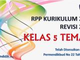 RPP Kelas 5 Tema 6 K13 Revisi 2020 Format 1 Lembar