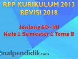 RPP K13 Kelas 1 Tema 8