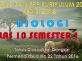 Download Silabus dan RPP Biologi Kelas X K13 Revisi 2018