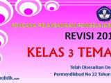 RPP Kurikulum 2013 Kelas 3 Tema 1 Edisi Revisi 2018