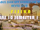 Download Silabus dan RPP Fisika Kelas X K13 Revisi 2018
