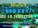 Download Silabus dan RPP Geografi Kelas X K13 Revisi 2018