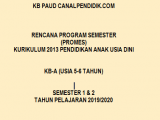 Promes K13 PAUD TK B Umur 5-6 Tahun