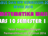Download Silabus dan RPP MTK Wajib Kelas X K13 Revisi 2018