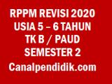 RPPM TK B / PAUD Umur 5-6 Tahun Semester 2