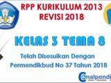 RPP Kelas 3 Semester 2 Tema 8 Kurikulum 2013 Revisi 2018