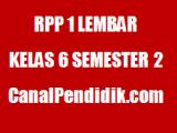 Perangakat RPP 1 Lembar Kelas 6 Semester 2