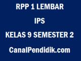 RPP IPS SMP Kelas 9 1 Lembar Semester 2 Revisi 2020