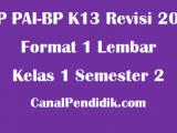 RPP PAI SD Kelas 1 Semester 2 Format 1 Lembar