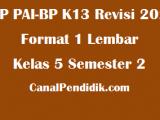 RPP PAI SD Kelas 5 Semester 2 Format 1 Lembar