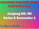 RPP MTK K13 Kelas 6 Semester 1