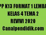 RPP 1 Lembar Kelas 4 Tema 2 K13 Revisi 2020
