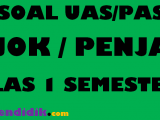 Soal UAS PJOK Kelas 1 Semester 1
