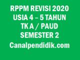 RPPM TK A / PAUD Umur 4-5 Tahun Semester 2