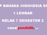 RPP SMP 1 Lembar Kelas 7 Bahasa Indonesia Revisi 2020